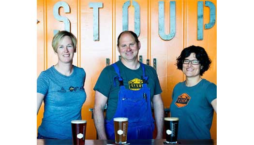Robyn, Brad, and Lara, the Stoup Crew.